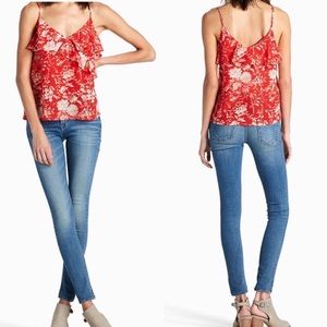 Lucky Brand Floral Red Camisole